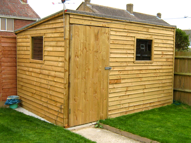 Denchworth ponds garden sheds oxford for Sloped roof shed